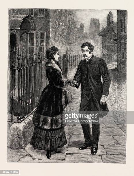 Drawn By John Charlton Street Man Woman Encounter Engraving 1884 Life In Britain UK Britain British Europe United Kingdom Great Britain European Art...