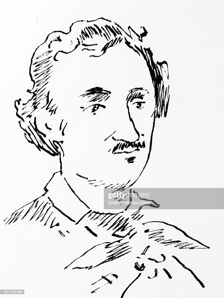 Drawn portrait of <a gi-track='captionPersonalityLinkClicked' href=/galleries/search?phrase=Edgar+Allan+Poe&family=editorial&specificpeople=207571 ng-click='$event.stopPropagation()'>Edgar Allan Poe</a>, American writer, editor, and literary critic, by Edouard Manet, 1877. From the New York Public Library. (Photo by Smith Collection/Gado/Getty Images).