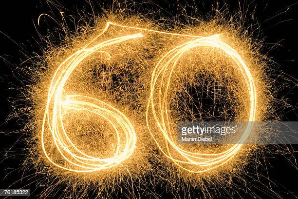 60' drawn with a sparkler
