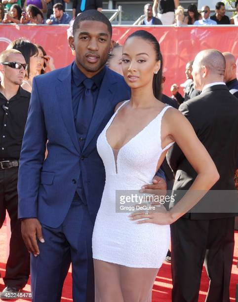 Draya Michele and Orlando Scandrick arrive at the 2014 ESPY Awards at Nokia Theatre LA Live on July 16 2014 in Los Angeles California
