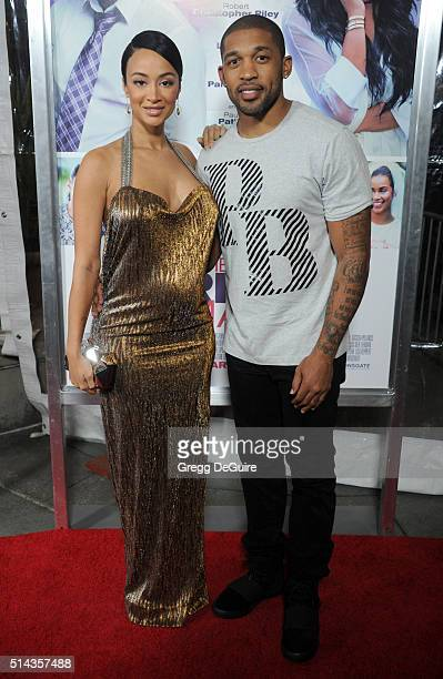 Draya Michele and Orlando Scandrick arrive at the premiere of Lionsgate's 'The Perfect Match' at ArcLight Hollywood on March 7 2016 in Hollywood...