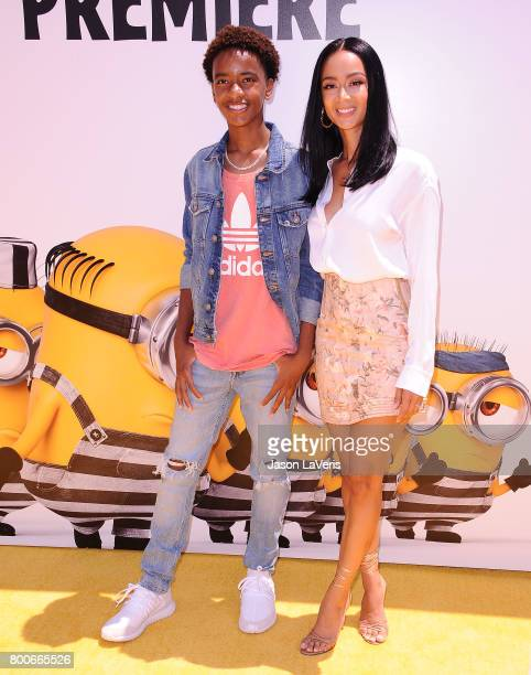 Draya Michele and son Kniko Howard attend the premiere of 'Despicable Me 3' at The Shrine Auditorium on June 24 2017 in Los Angeles California