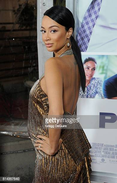 Draya Michele arrives at the premiere of Lionsgate's 'The Perfect Match' at ArcLight Hollywood on March 7 2016 in Hollywood California