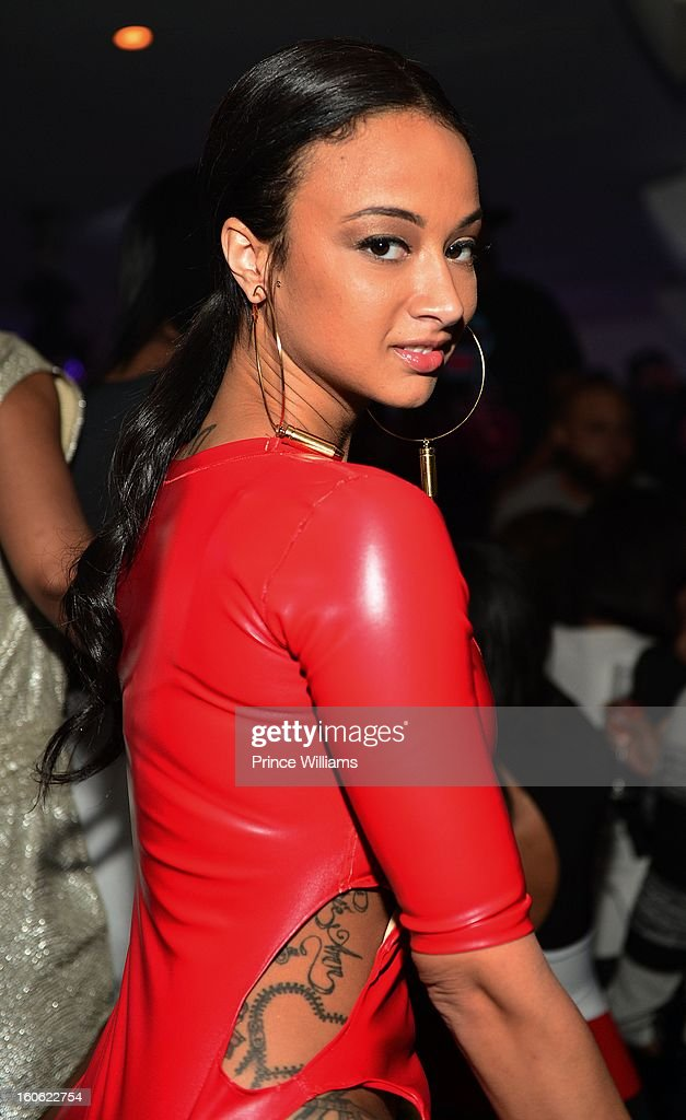 Draya Michele attends a party at Compound on February 2, 2013 in Atlanta, Georgia.