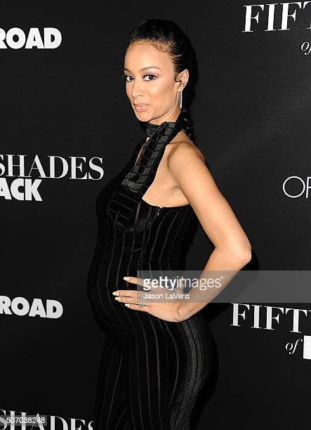 Draya Michele attends the premiere of 'Fifty Shades of Black' at Regal Cinemas LA Live on January 26 2016 in Los Angeles California