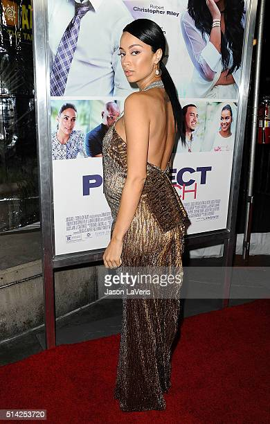 Draya Michele attends the premiere of 'The Perfect Match' at ArcLight Hollywood on March 7 2016 in Hollywood California