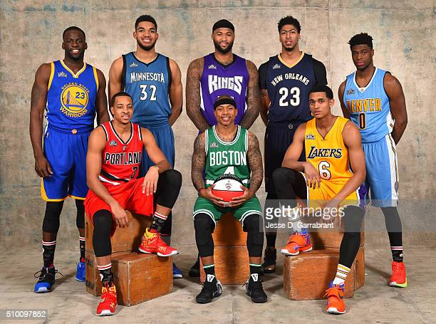 Draymond Green of the Golden State Warriors Anthony Davis of the New Orleans Pelicans CJ McCollum of the Portland Trailblazers KarlAnthony Towns of...