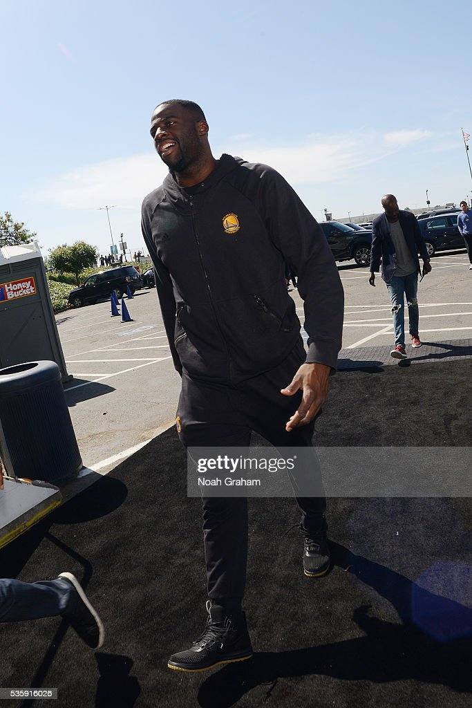 <a gi-track='captionPersonalityLinkClicked' href=/galleries/search?phrase=Draymond+Green&family=editorial&specificpeople=5628054 ng-click='$event.stopPropagation()'>Draymond Green</a> #23 of the Golden State Warriors arrives before the game against the Oklahoma City Thunder in Game Seven of the Western Conference Finals during the 2016 NBA Playoffs on May 30, 2016 at ORACLE Arena in Oakland, California.