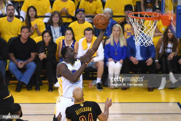 Draymond Green of the Golden State Warriors attempts a lay up against the Cleveland Cavaliers during the first half in Game 5 of the 2017 NBA Finals...