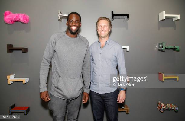 Draymond Green of the Golden State Warriors basketball team and Sam Shank CEO and cofounder of Hotel Tonight chat at HotelTonight headquarters on...