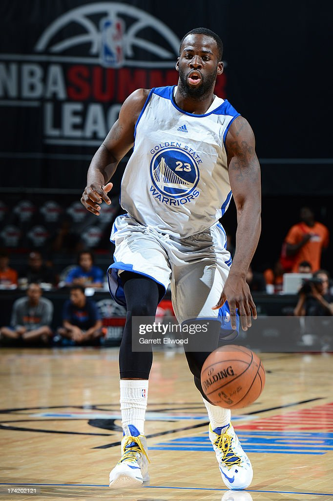 Draymond Green #23 of the Golden State Warriors brings the ball up court during NBA Summer League game between the Charlotte Bobcats and the Golden State Warriors on July 21, 2013 at the Cox Pavilion in Las Vegas, Nevada.