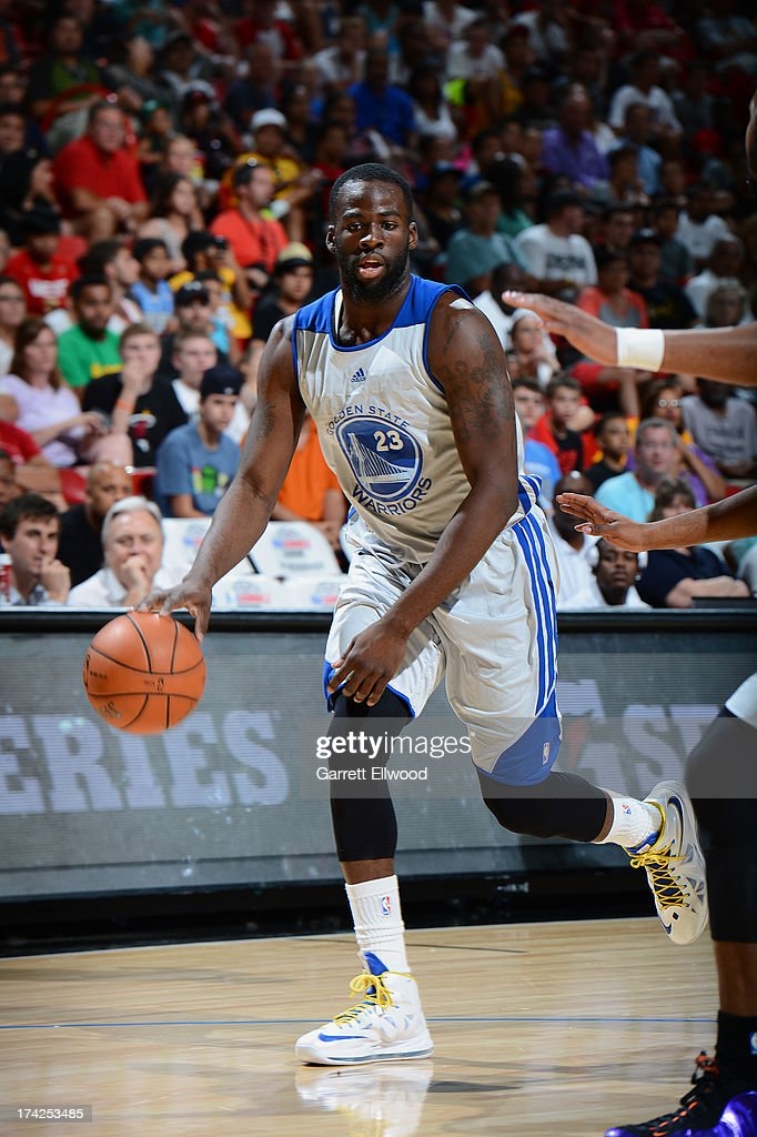 Draymond Green #23 of the Golden State Warriors dribble up the floor against the Phoenix Suns during NBA Summer League Championship Game on July 22, 2013 at the Cox Pavilion in Las Vegas, Nevada.