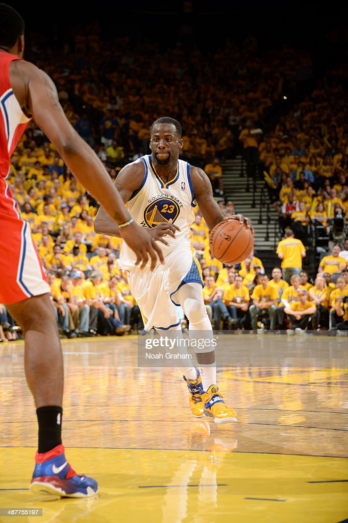 Draymond Green #23 of the Golden State Warriors drives against the Los Angeles Clippers in Game Six of the Western Conference Quarterfinals during the NBA Playoffs at Oracle Arena on May 1, 2014 in Oakland, California.