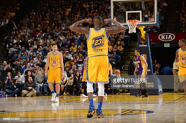 Draymond Green of the Golden State Warriors during the game against the Los Angeles Lakers on November 24 2015 at ORACLE Arena in Oakland California...