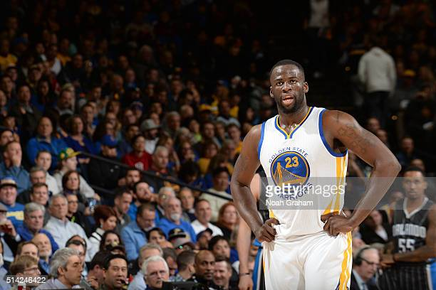 Draymond Green of the Golden State Warriors during the game against the Orlando Magic on March 7 2016 at ORACLE Arena in Oakland California NOTE TO...
