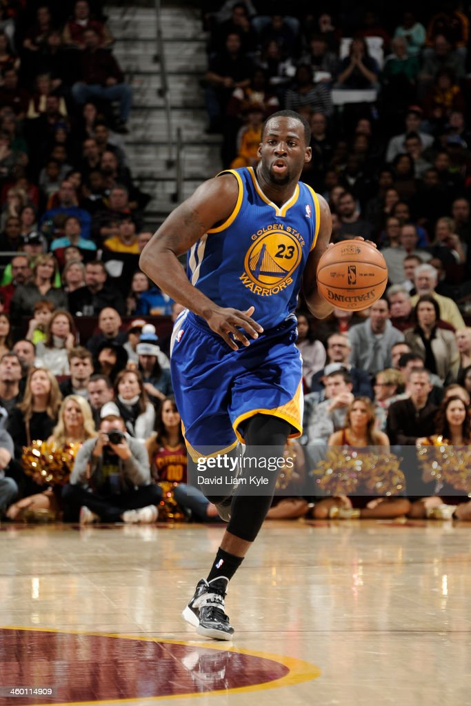 <a gi-track='captionPersonalityLinkClicked' href=/galleries/search?phrase=Draymond+Green&family=editorial&specificpeople=5628054 ng-click='$event.stopPropagation()'>Draymond Green</a> #23 of the Golden State Warriors handles the ball against the Cleveland Cavaliers at The Quicken Loans Arena on December 29, 2013 in Cleveland, Ohio.
