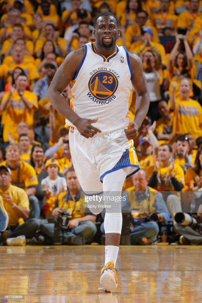Draymond Green #23 of the Golden State Warriors handles the ball against the Los Angeles Clippers in Game Six of the Western Conference Quarterfinals during the 2014 NBA Playoffs at Oracle Arena on May 1, 2014 in Oakland, California.