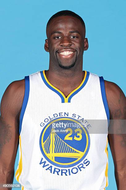 Draymond Green of the Golden State Warriors poses for a head shot during media day on September 28 2015 at the Warriors practice facility in Oakland...