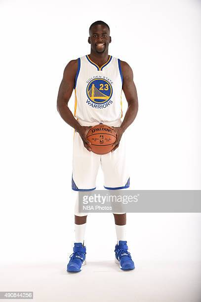 Draymond Green of the Golden State Warriors poses for a portrait on September 28 2015 at the Warriors Practice Facility in Oakland California NOTE TO...