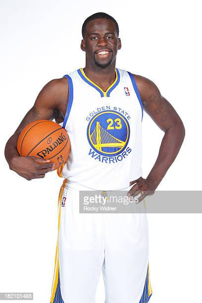 Draymond Green of the Golden State Warriors poses for a portrait during 2013 NBA Media Day on September 27 2013 in Oakland California NOTE TO USER...