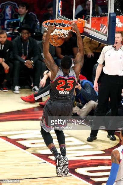 Draymond Green of the Western Conference AllStar Team dunks the ball during the NBA AllStar Game as part of the 2017 NBA All Star Weekend on February...