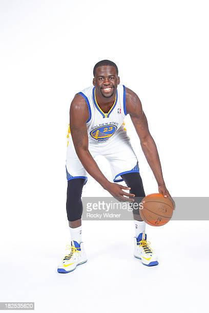 Draymond Green poses for a photo on Golden State Warriors media day held September 27 2013 at the Warriors practice facility in Oakland California...