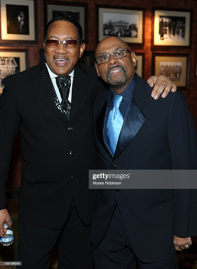 Dr.Bobby Jones and Bishop Paul Morton attend the 28th Annual Stellar Awards Backstage at Grand Ole Opry House on January 19, 2013 in Nashville, Tennessee.