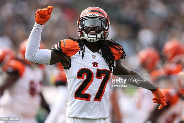 Dre Kirkpatrick of the Cincinnati Bengals reacts to a play in the first half of their NFL game against the Oakland Raiders at Oco Coliseum on...