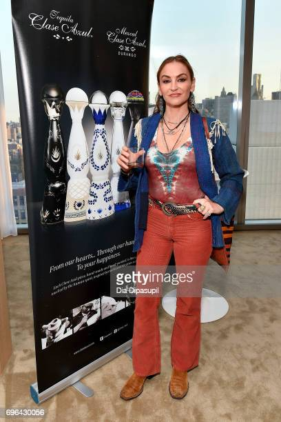 Drea de Matteo attends the 20th Anniversary Celebration of Clase Azul Tequila at Public hotel on June 15 2017 in New York City