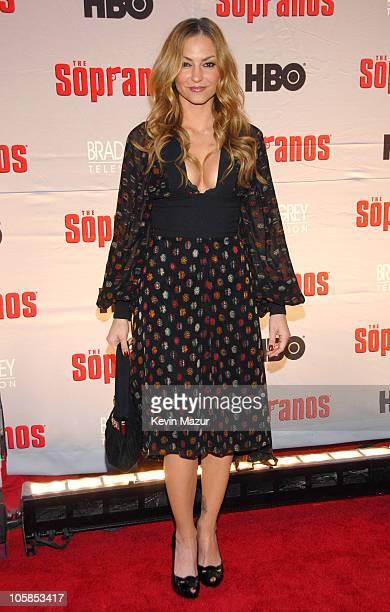 Drea De Matteo during 'The Sopranos' Final Season World Premiere Red Carpet at Radio City Music Hall in New York City New York United States