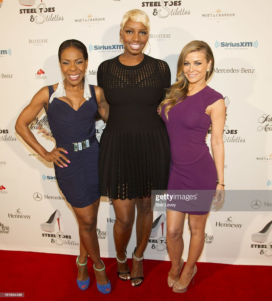 Drea Kelly, Nene Leakes and <a gi-track='captionPersonalityLinkClicked' href=/galleries/search?phrase=Carmen+Electra&family=editorial&specificpeople=171242 ng-click='$event.stopPropagation()'>Carmen Electra</a> o the red carpet at Beverly Hills Sports And Entertainment Group Present The Event: Steel Toes And Stilettos Party at The Phantom on February 16, 2013 in Houston, Texas.