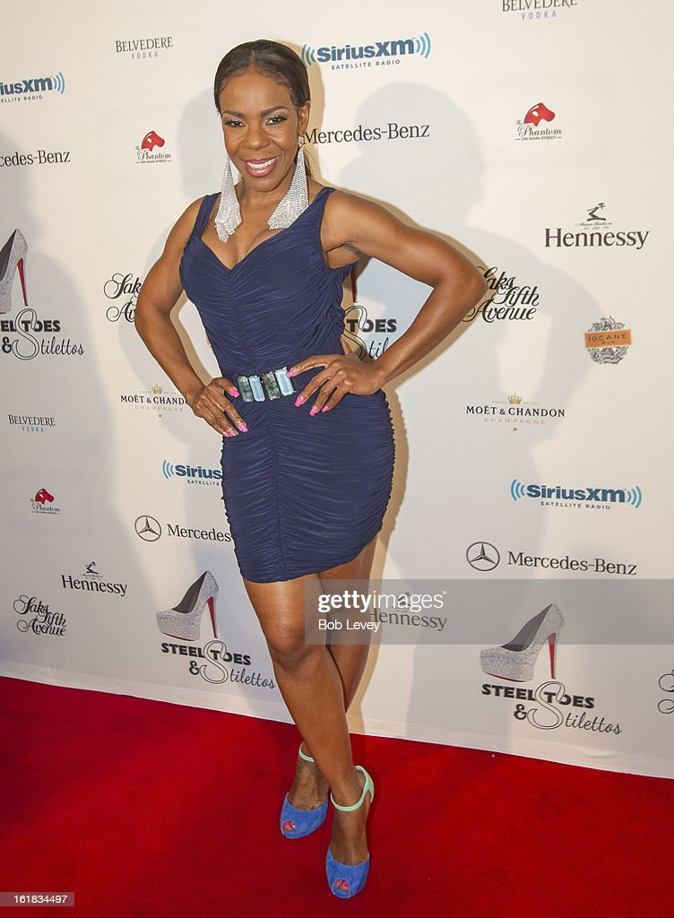 Drea Kelly on the red carpet at Beverly Hills Sports And Entertainment Group Present The Event: Steel Toes And Stilettos Party at The Phantom on February 16, 2013 in Houston, Texas.