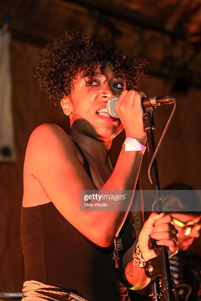 Drea Smith of Pyyramids performs on stage at The Bootleg Theater on July 18, 2013 in Los Angeles, California.