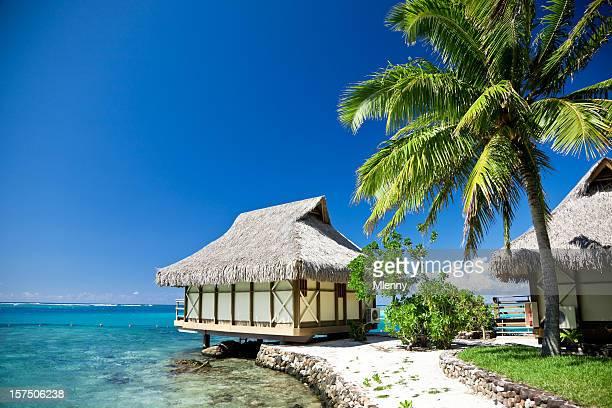 Plage de rêve du complexe touristique de l'île de Moorea