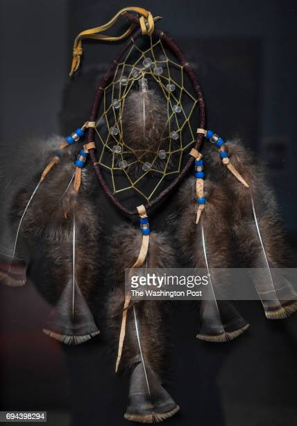 A dream catcher which has been on display and passed around to the different schools throughout the country which have had school shootings hangs on...