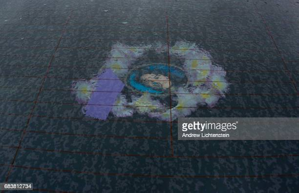 A dream catcher with a photograph of Ramona Wilson sits in the back of her sister Brenda's car on April 24 2016 outside of Smithers British Columbia...