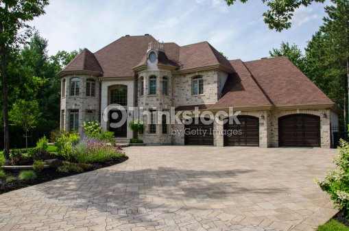 Dream house home luxury mansion success stock photo for Dream homes canada