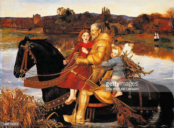 Dream of the Past Sir Isumbras at the Ford by John Everett Millais oil on canvas 1255x1715 cm Liverpool Walker Art Gallery
