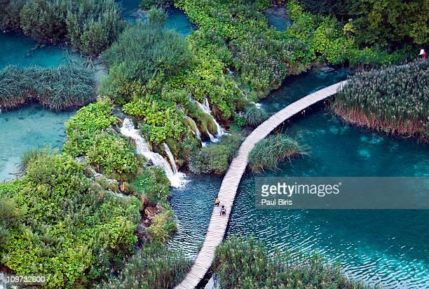 Dream Place, Wooden footbridge, Plitvice Park