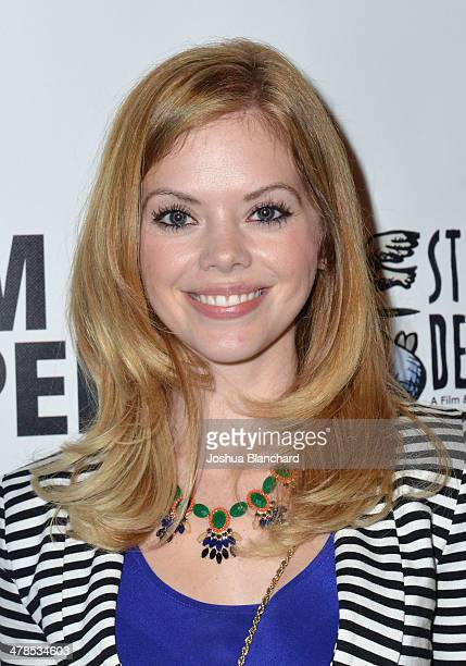 Dreama Walker arrives at the Lifetime original movie screening of 'The Grim Sleeper' at American Film Institute on March 13 2014 in Los Angeles...