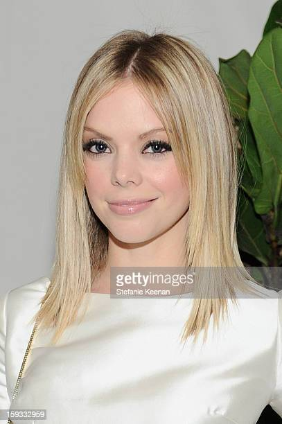 Dreama Walker attends Dom Perignon and W Magazine's celebration of The Golden Globes at Chateau Marmont on January 11 2013 in Los Angeles California