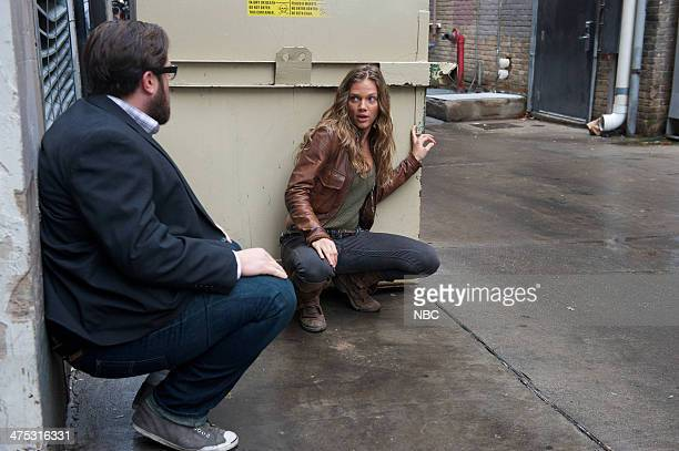REVOLUTION 'Dreamcatcher' Episode 215 Pictured Zak Orth as Aaron Pittman Tracy Spiridakos as Charlie Matheson
