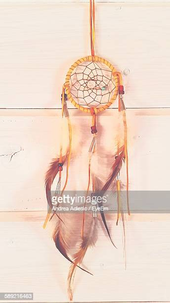 Dreamcatcher Hanging Against Wall