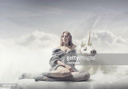 dreamer girl : Stock Photo