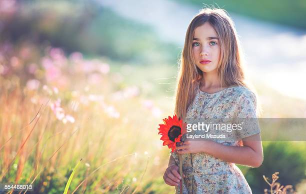 Dreaming of summer - young girl