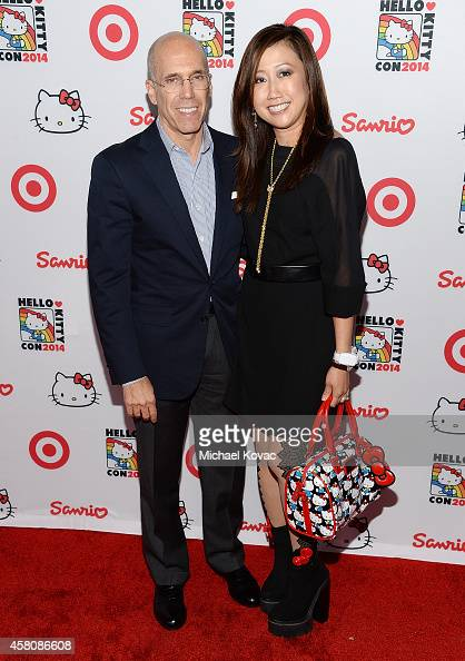 DreamWorks Animation CEO Jeffrey Katzenberg and President/COO of Sanrio Janet Hsu attend the Hello Kitty Con 2014 Opening Night Party on October 29...