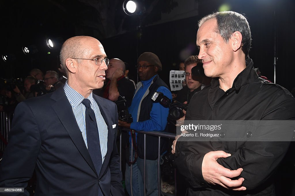 Dreamworks Animation CEO Jeffrey Katzenberg and producer Brian Robbins attend the premiere of Awesomeness TV's 'EXPELLED' at Westwood Village Theatre...