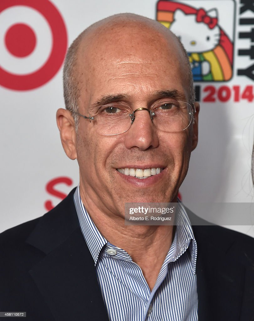 Dreamworks Animation CEO <a gi-track='captionPersonalityLinkClicked' href=/galleries/search?phrase=Jeffrey+Katzenberg&family=editorial&specificpeople=171496 ng-click='$event.stopPropagation()'>Jeffrey Katzenberg</a> arrives to Hello Kitty Con 2014 Opening Night Party Co-hosted by Target on October 29, 2014 in Los Angeles, California.