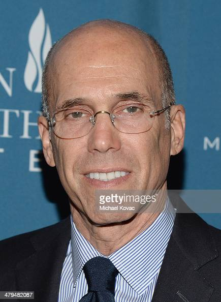 DreamWorks Animation CEO Jeffrey Katzenberg attends Simon Wiesenthal Center's 2014 Tribute Dinner at Regent Beverly Wilshire Hotel on March 18 2014...