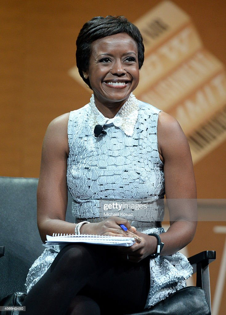 DreamWorks Animation Chairman, Ariel Investments and Moderator <a gi-track='captionPersonalityLinkClicked' href=/galleries/search?phrase=Mellody+Hobson&family=editorial&specificpeople=2572145 ng-click='$event.stopPropagation()'>Mellody Hobson</a> speaks onstage during 'Who Owns Your Screen?' at the Vanity Fair New Establishment Summit at Yerba Buena Center for the Arts on October 9, 2014 in San Francisco, California.